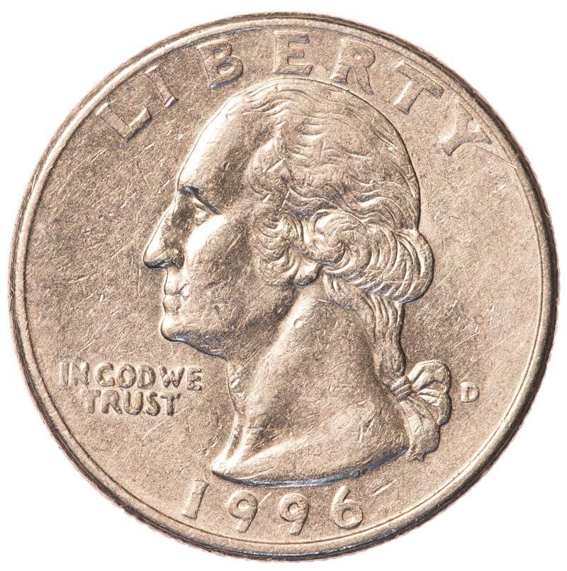 Münze des Amerikaners ein viertel lizenzfreie stockfotos