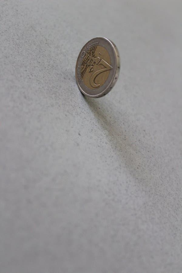 Münze des Euro zwei lizenzfreie stockbilder