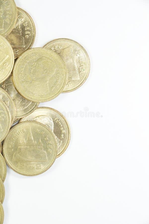 Münze des thailändischen Baht zwei auf links lizenzfreie stockfotografie