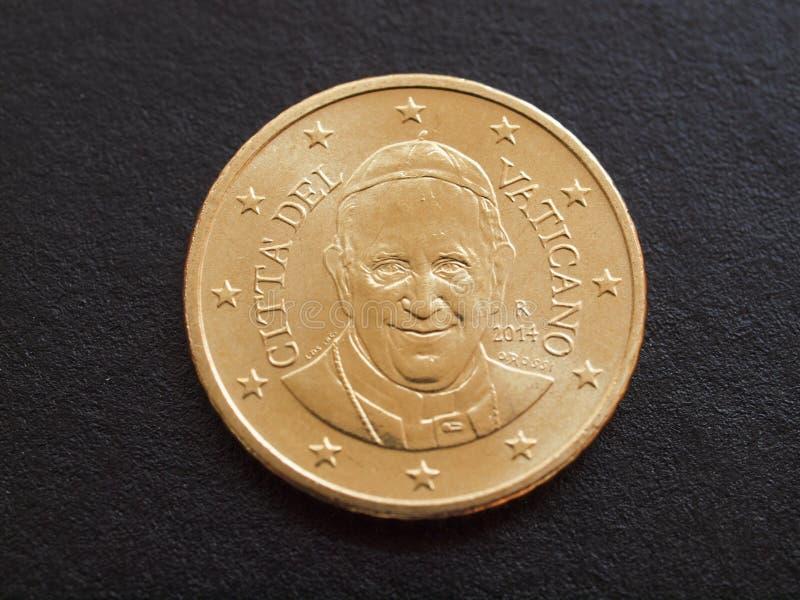 Münze Papstes Francis I lizenzfreie stockbilder