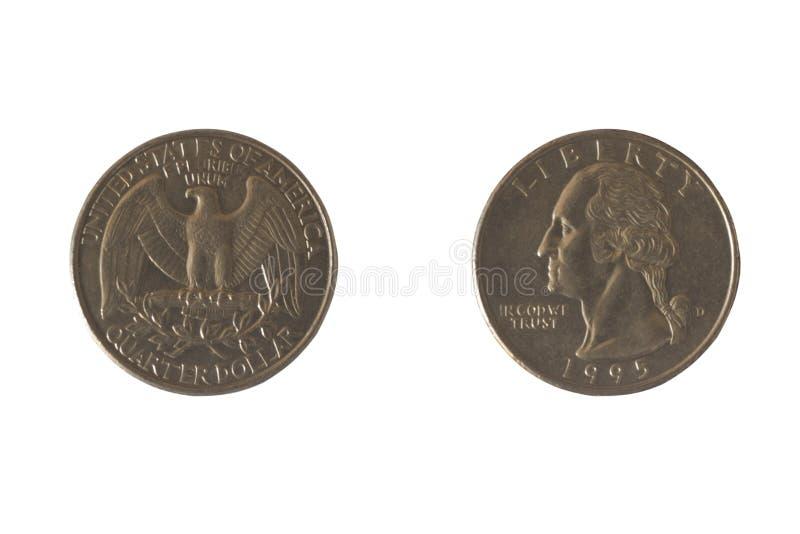 Münze USA 25 Cents lizenzfreies stockfoto