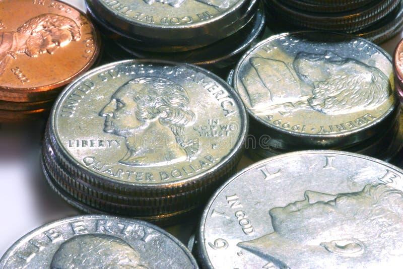 Münzen 1 lizenzfreies stockbild