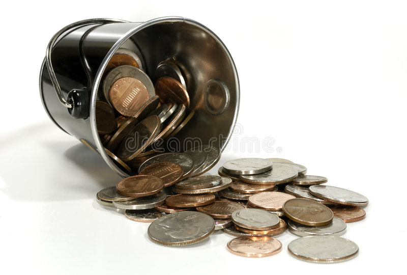 Münzen stockfotografie