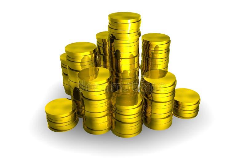 Münzen lizenzfreie abbildung