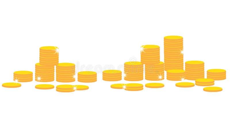 münzen vektor abbildung