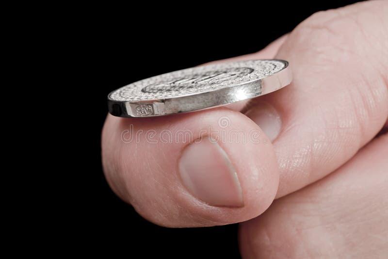 Münzen-leichter Schlag lizenzfreies stockfoto