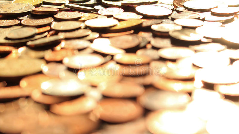 Münzen-Stapel stockfotos