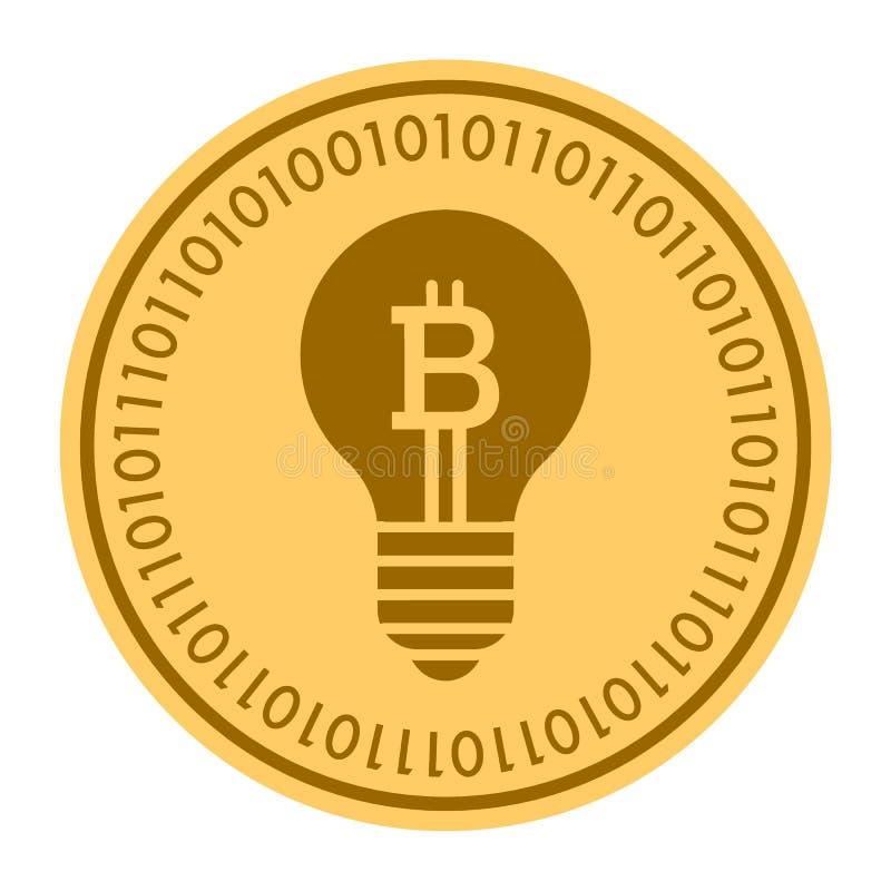 Münzen-Vektorikone Der Andeutungs-Lampe Goldene Digitale Goldgelbes ...