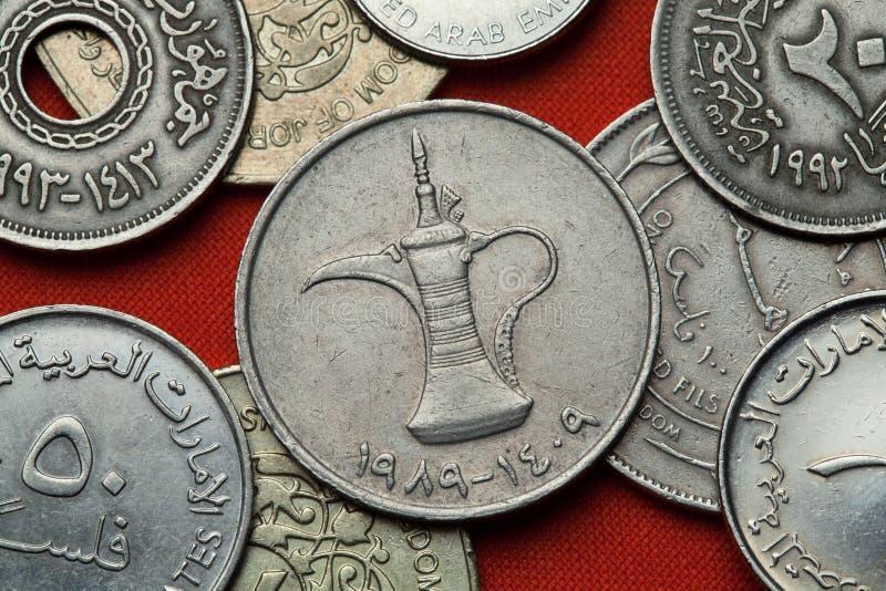 Münzen Vereinigte Arabische Emirates lizenzfreies stockbild