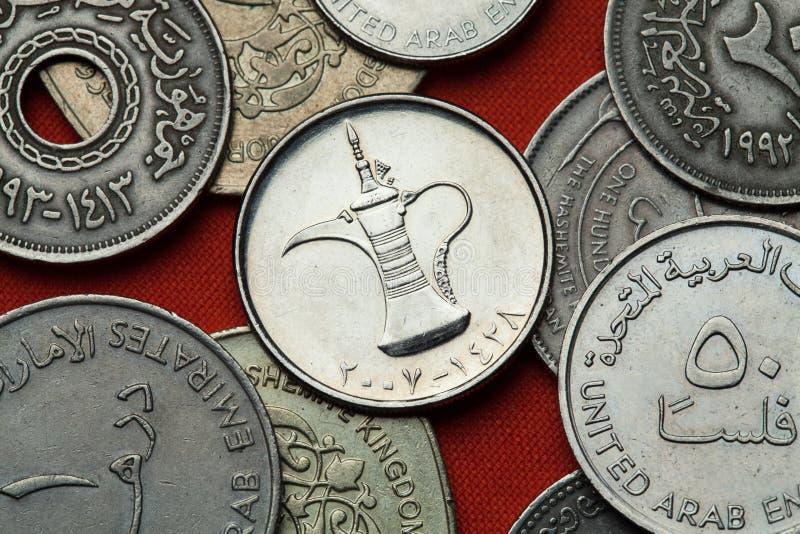 Münzen Vereinigte Arabische Emirates stockfoto