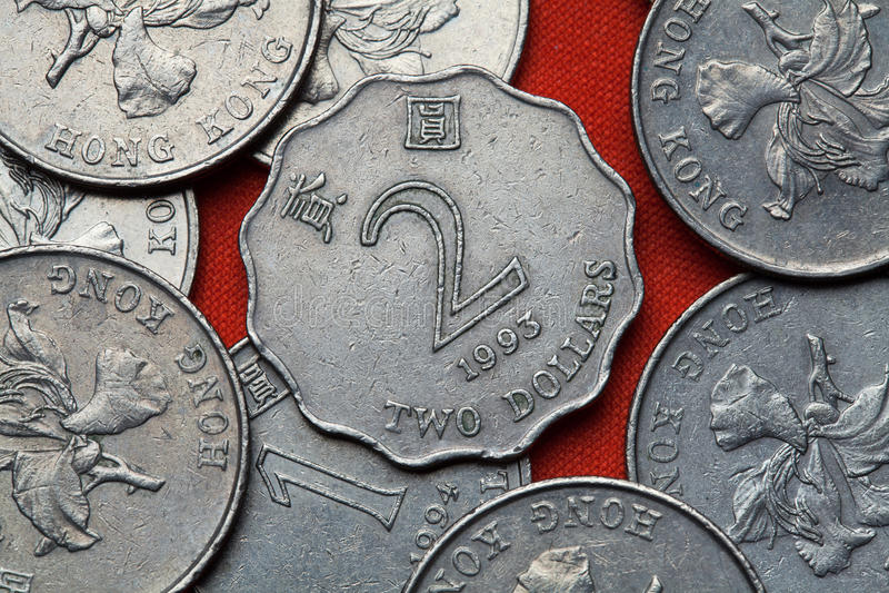 Münzen von Hong Kong stockfoto