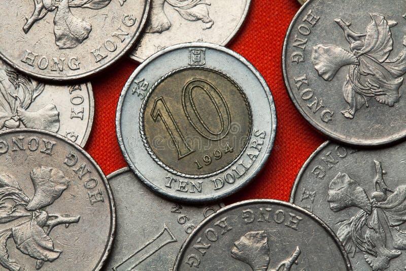 Münzen von Hong Kong lizenzfreies stockbild