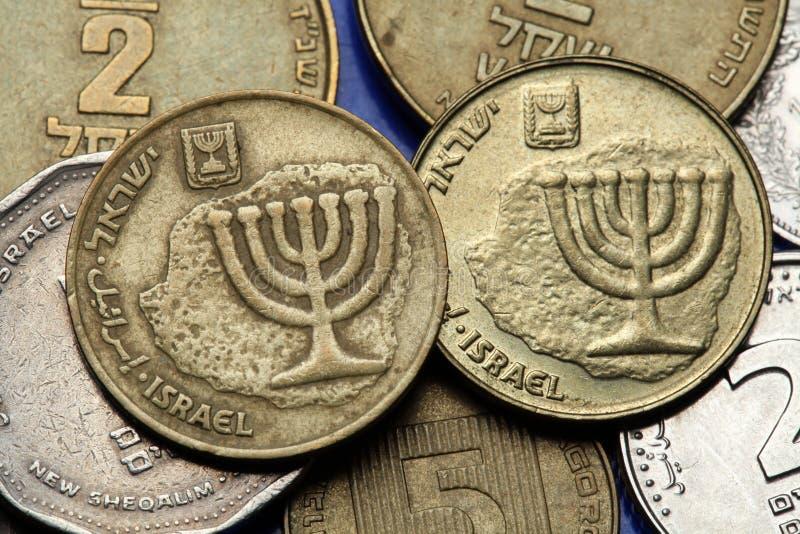 Münzen von Israel lizenzfreie stockbilder