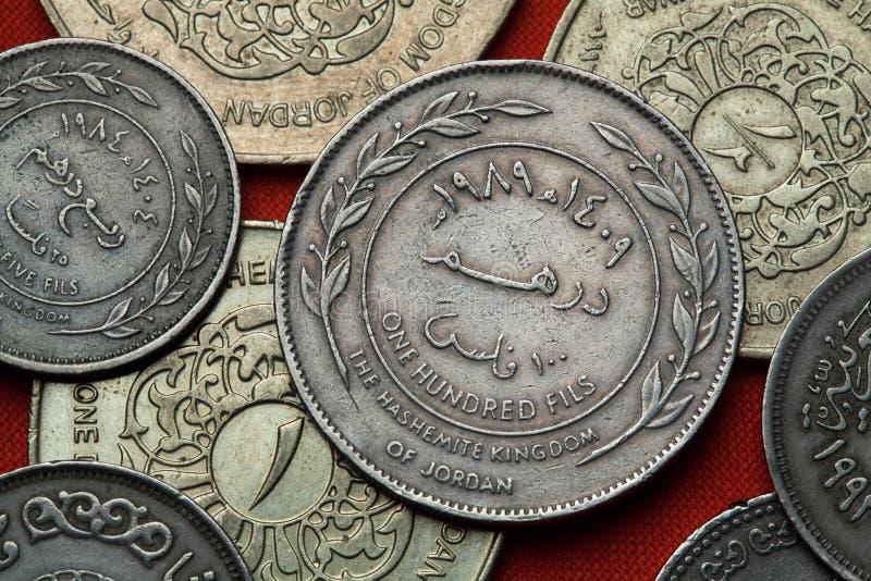 Münzen von Jordanien lizenzfreie stockbilder