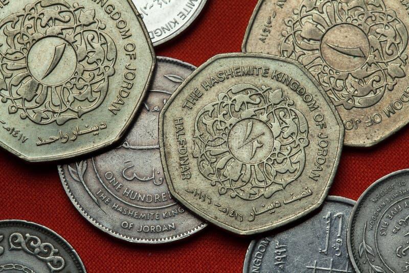 Münzen von Jordanien stockbild