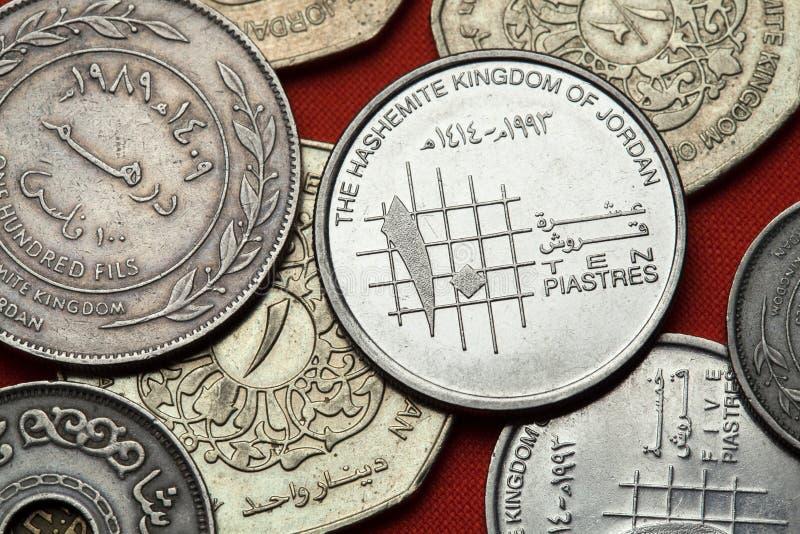 Münzen von Jordanien stockfoto