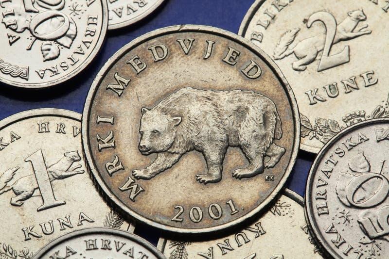 Münzen von Kroatien stockbilder