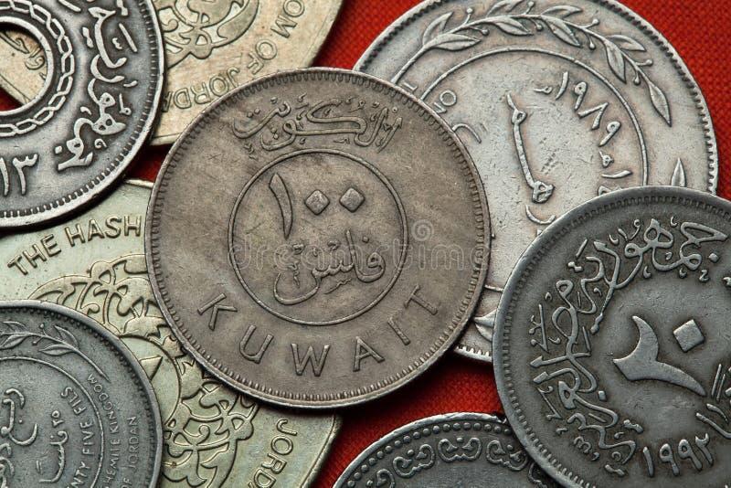 Münzen von Kuwait lizenzfreies stockbild