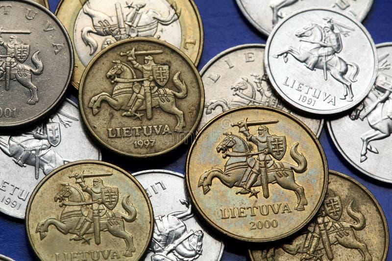 Münzen von Litauen stockfotografie