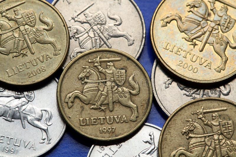 Münzen von Litauen lizenzfreie stockbilder