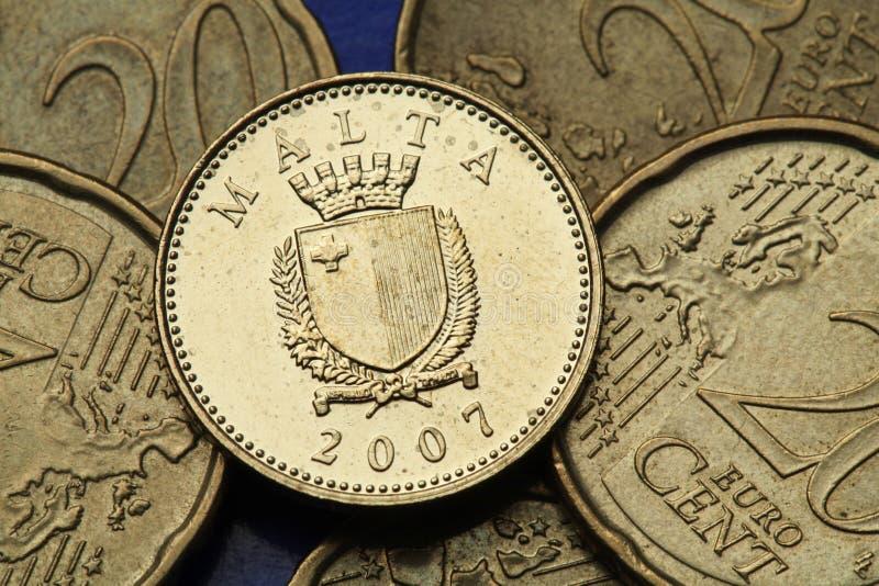 Münzen von Malta lizenzfreie stockfotos