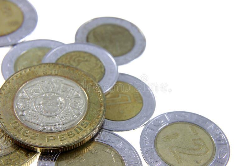Münzen von Mexiko lizenzfreie stockfotos