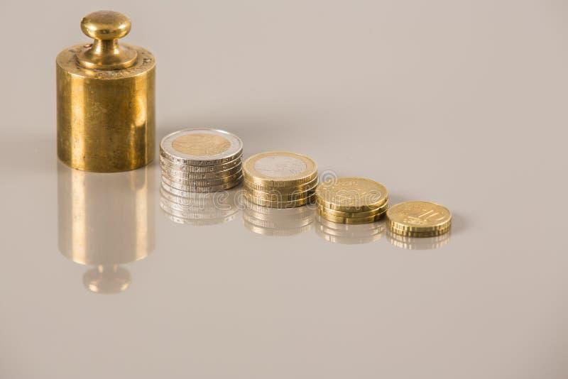 Münzen-Wirtschaft stockfotografie