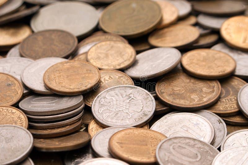 Münzenhintergründe lizenzfreie stockbilder