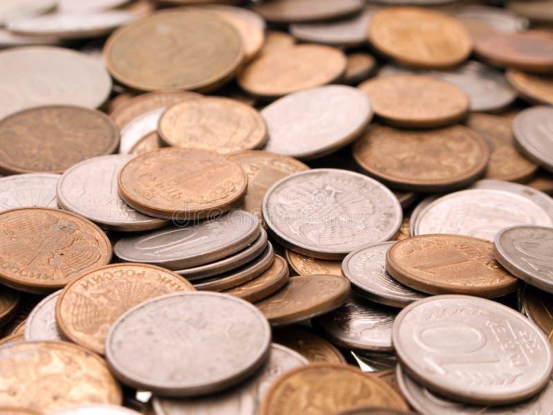 Münzenhintergründe stockbild
