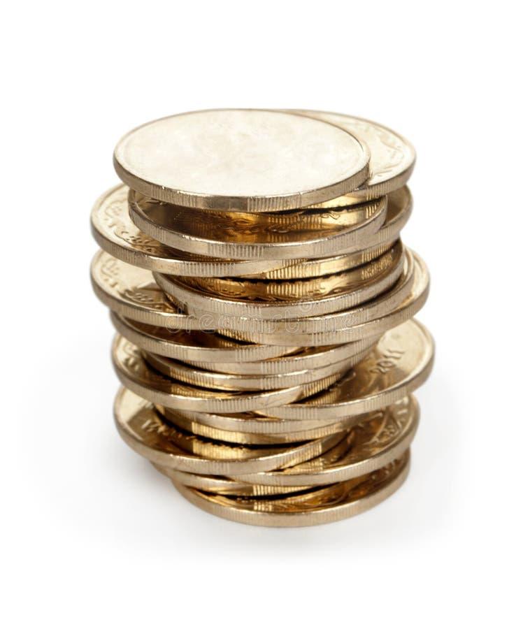 Münzenstapel stockbild