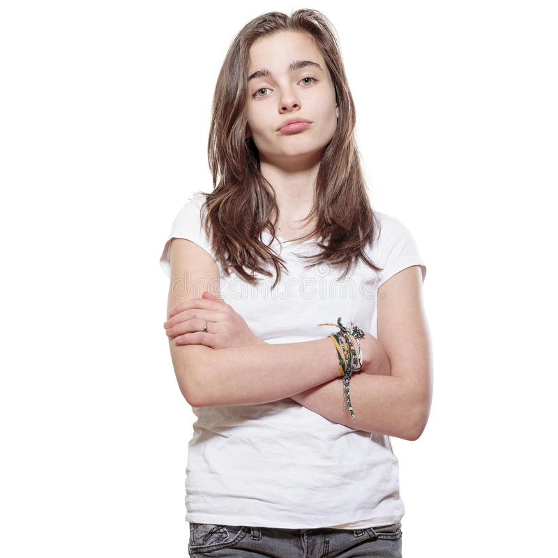 Mürrische Jugendliche stockfotos