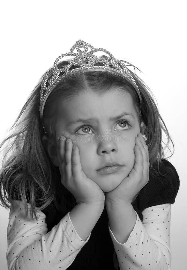 Mürrische kleine Prinzessin stockfoto