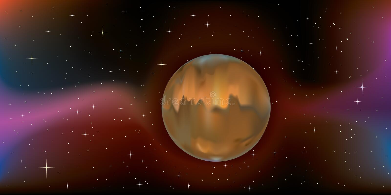 mąci planetę royalty ilustracja