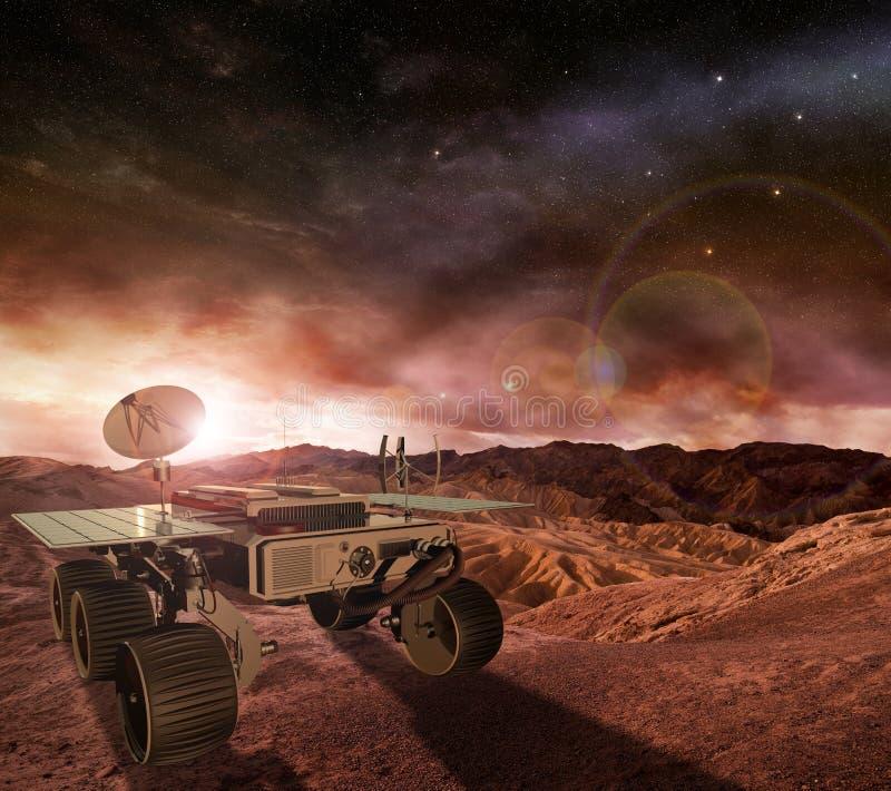 Mąci włóczęgi bada planetę ilustracji