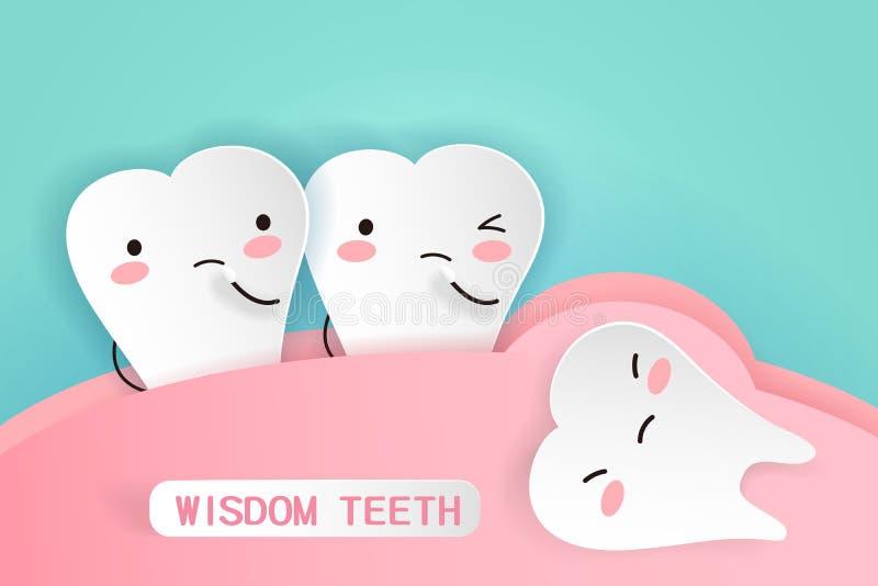 Mądrość zęby z zdrowia pojęciem royalty ilustracja