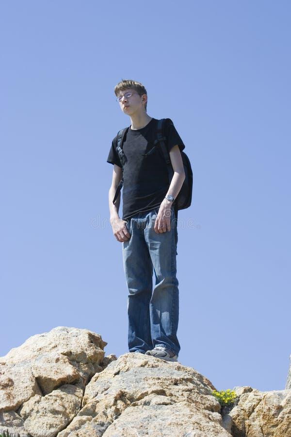 mądry mountain top nastolatków. zdjęcie royalty free
