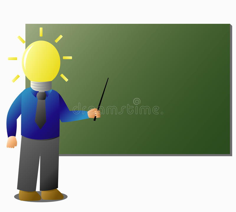 mądry nauczyciel ilustracja wektor
