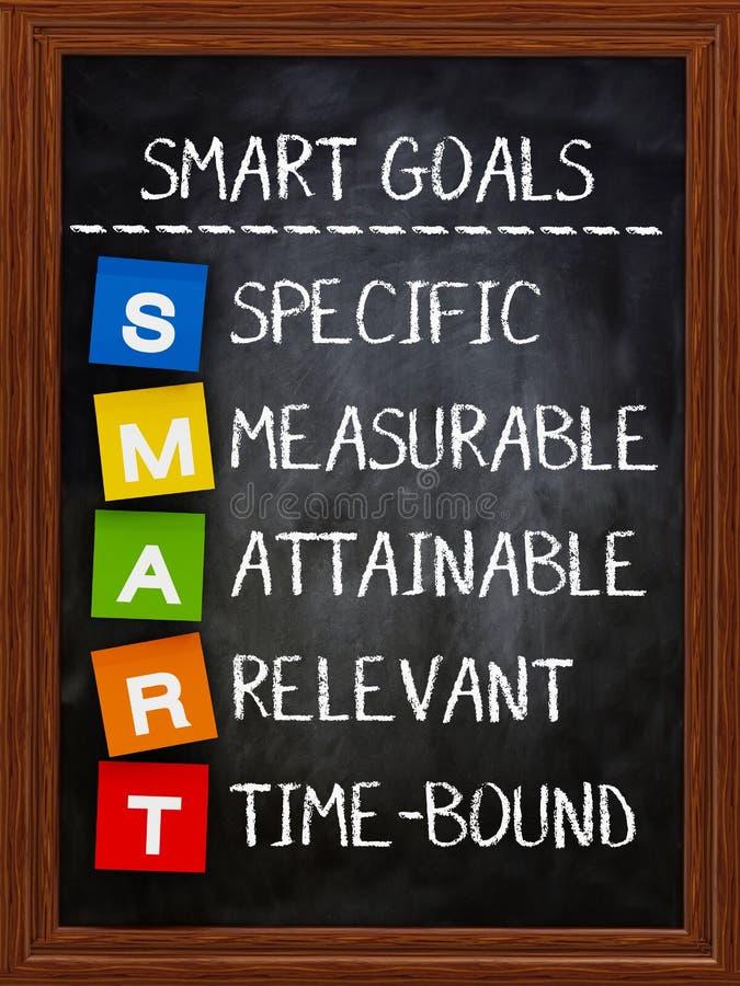 Mądrze cele na blackboard zdjęcie stock