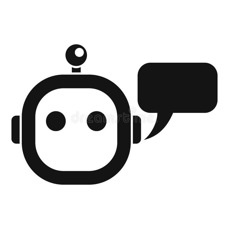 Mądrze chatbot ikona, prosty styl royalty ilustracja