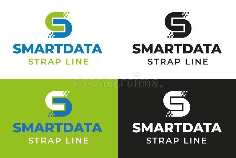 Mądrze Cyfrowych dane logo szablon zdjęcie royalty free