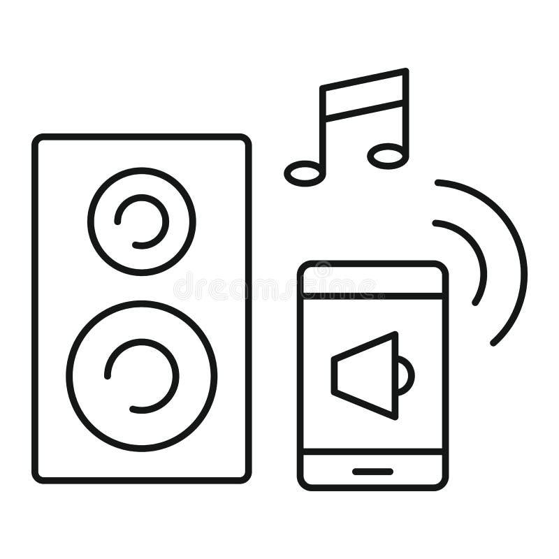 Mądrze dźwięk kontrola ikona, konturu styl royalty ilustracja