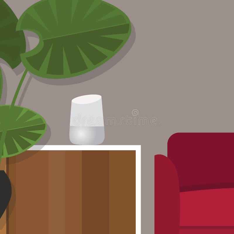 Mądrze domowa pomocnicza inteligenci ogłoszenia towarzyskiego technologia ilustracji