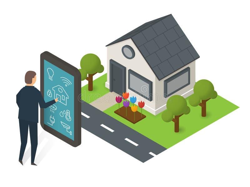 Mądrze domowa technologia ilustracja wektor