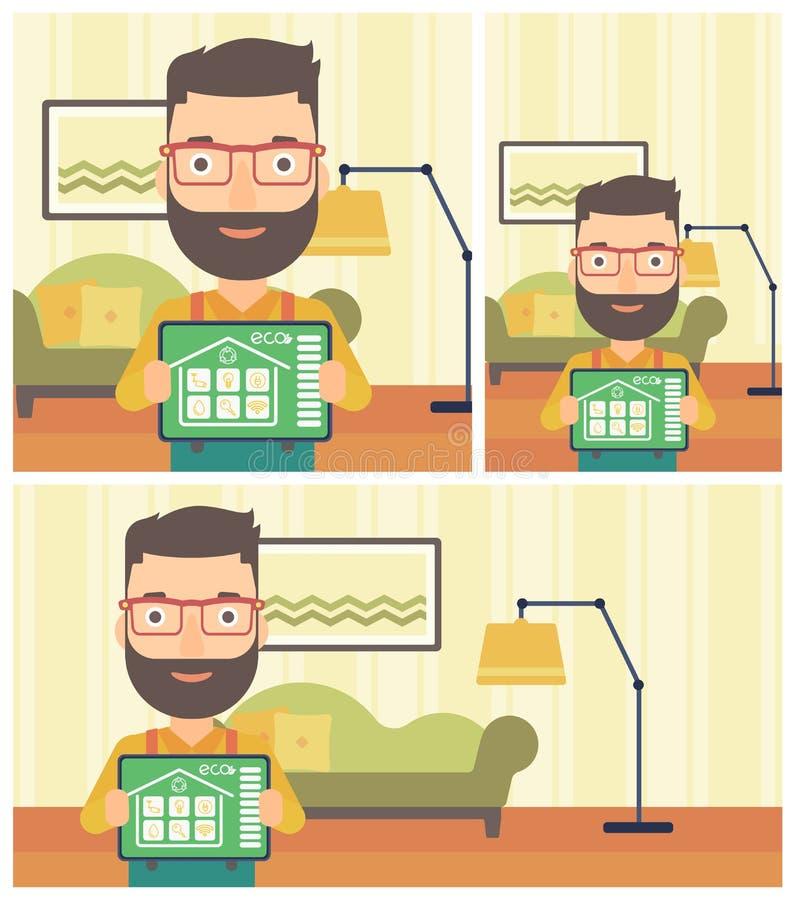 Mądrze domowej automatyzaci wektoru ilustracja ilustracja wektor
