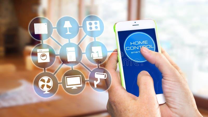 Mądrze Domowy przyrząd - Domowa kontrola obrazy stock