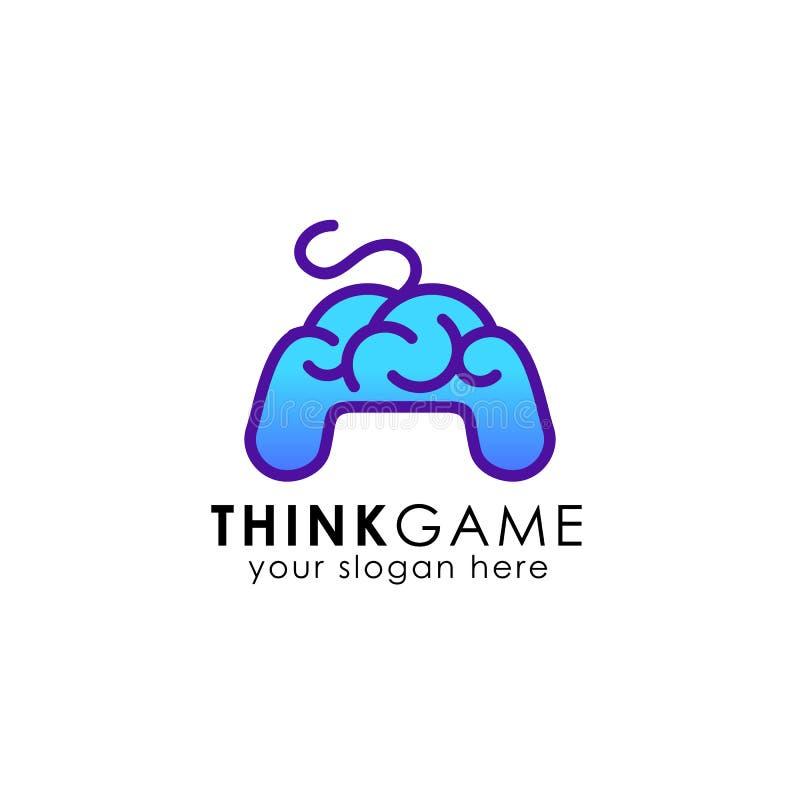 mądrze joysticka logo projekta ikony symbol ilustracji