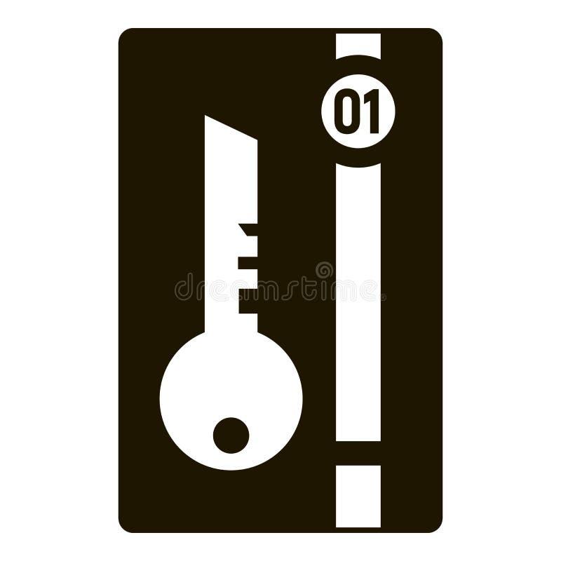 Mądrze klucza domu ikona, prosty styl ilustracji