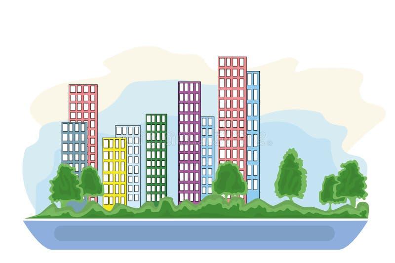 Mądrze miasta graficzny projekt, wektorowa ilustracja ilustracja wektor