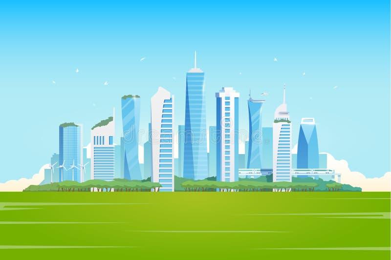 Mądrze miasto ilustracji