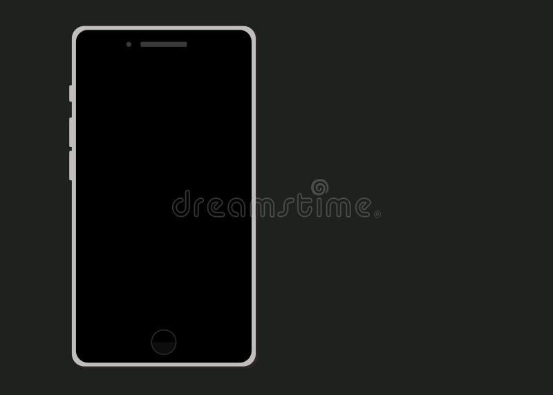 mądrze nowożytny telefon Płaski projekt ilustracja wektor